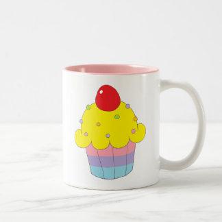 Rainbow Cupcake Two-Tone Coffee Mug