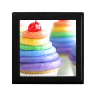 Rainbow cupcakes jewelry box