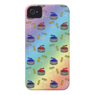 Rainbow curling pattern iPhone 4 Case-Mate case