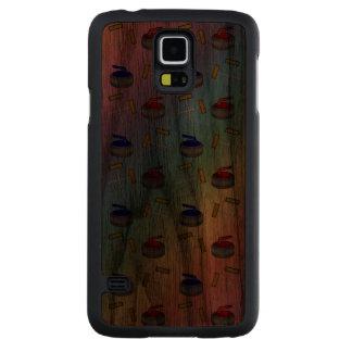 Rainbow curling pattern carved® walnut galaxy s5 case
