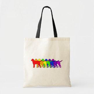 Rainbow Curly Canvas Bag