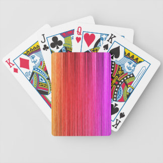 Rainbow Curtain Design Bicycle Playing Cards