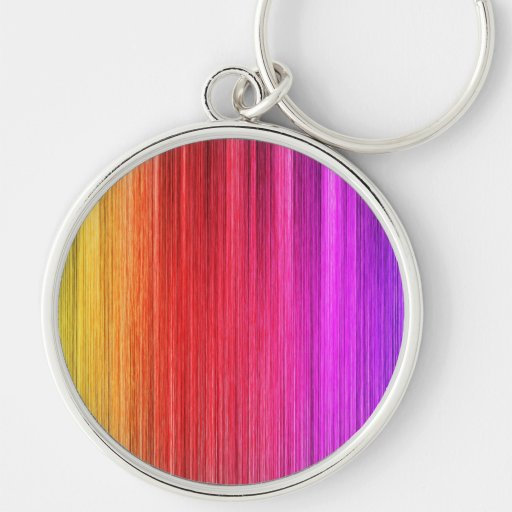 Rainbow Curtain Design Key Chains