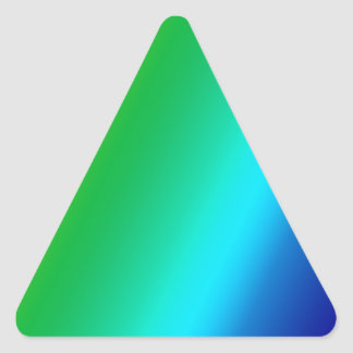 rainbow custom design triangle sticker