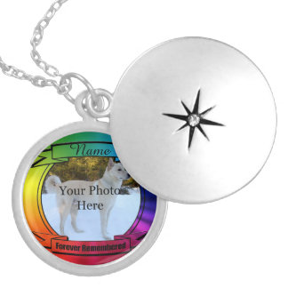 Rainbow Custom Memorial - Forever Remembered Silver Plated Necklace