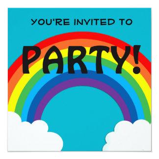 Rainbow customisable 18 Birthday invitation