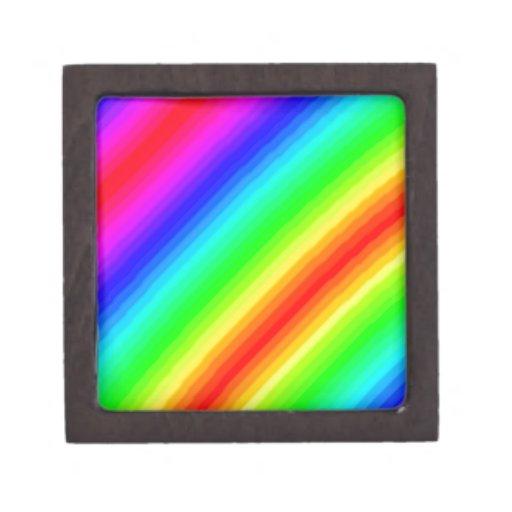 Rainbow Customizable Premium Trinket Boxes