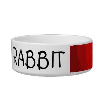 rainbow customizable rabbit feeding bowl cat bowl