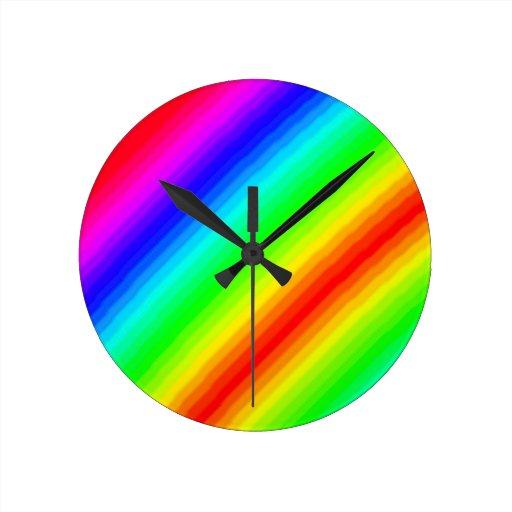 Rainbow Customizable Wall Clocks