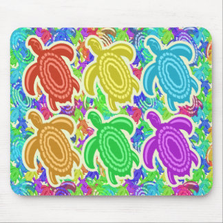 Rainbow Cutout Turtles Mousepad