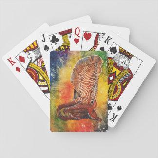 Rainbow Cuttlefish Playing Cards