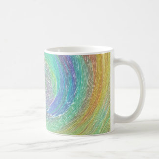 Rainbow Cyclone Absract Art Coffee Mug