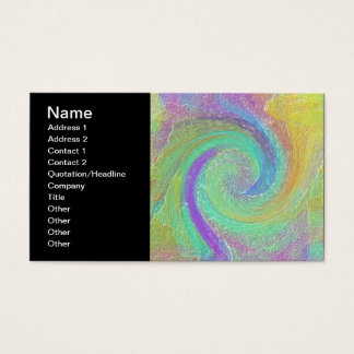 Rainbow Cyclone Abstract Art Business Card