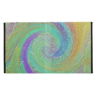 Rainbow Cyclone Abstract Art iPad Cases