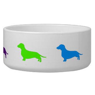 Rainbow Dachshund bowl Dog Food Bowls