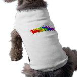 Rainbow Dachshund Doggie Tee