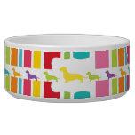 Rainbow Dachshund Lovers Dog Food Bowls