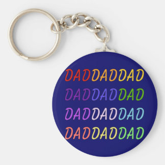 Rainbow Dad Art Keychain