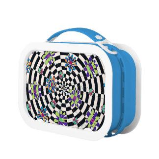 Rainbow Daisies Kaleidoscope Lunch Boxes