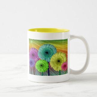 Rainbow daisies Mug
