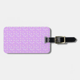 Rainbow Daisies on Lilac Bag Tag