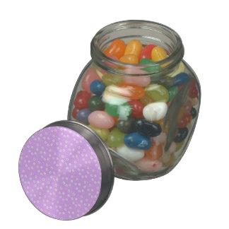 Rainbow Daisies on Lilac Glass Jar