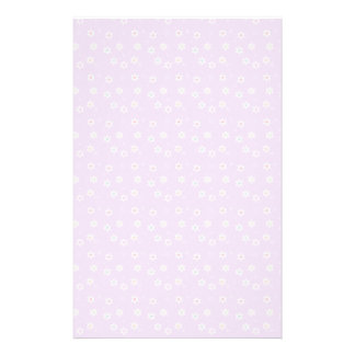 Rainbow Daisies on Lilac Stationery