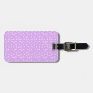 Rainbow Daisies on Lilac Travel Bag Tags
