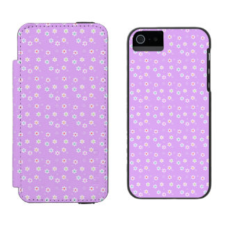 Rainbow Daisies on Lilac Wallet Case For iPhone SE/5/5s