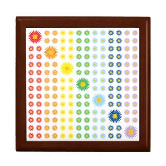 Rainbow Daisies Tile Box