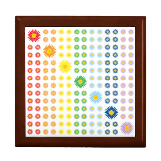 Rainbow Daisies Tile Box Trinket Box