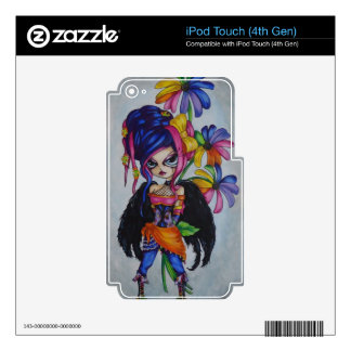 Rainbow Daisy Fairy Angel iPod Touch 4th Gen Skin Skin For iPod Touch 4G