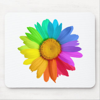 Rainbow Daisy Mouse Pad