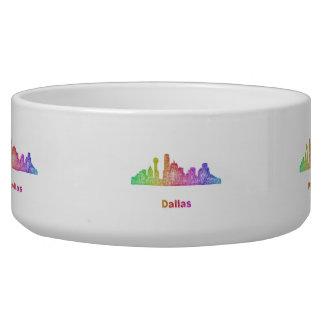 Rainbow Dallas skyline Bowl