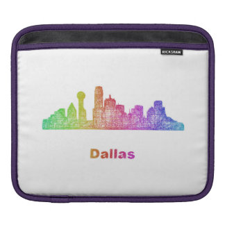 Rainbow Dallas skyline Sleeve For iPads