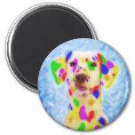 Rainbow Dalmatian Magnets
