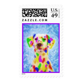 Rainbow Dalmatian Postage