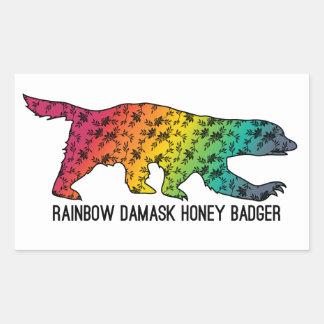 Rainbow Damask Honey Badger sticker