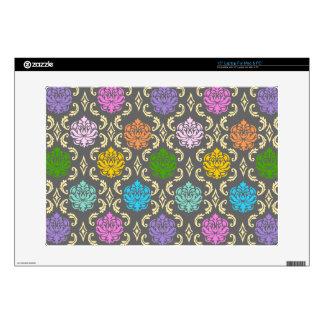 Rainbow Damask laptop skin / cover