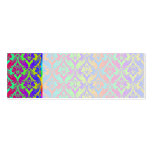Rainbow Damask Wedding Place Name Cards Business Card Template