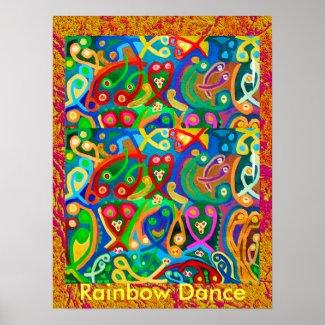 RAINBOW Dance print