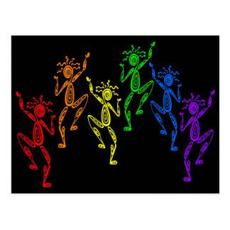 Rainbow Dancers Postcard