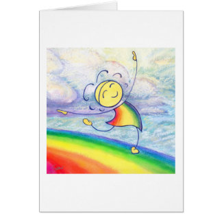 Rainbow Dancin Greeting Card