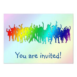Rainbow Dancing Party Invitation