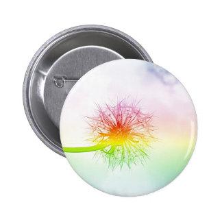 Rainbow Dandelion 2 Inch Round Button