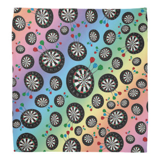 Rainbow dartboard pattern bandana
