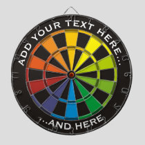 Rainbow Dartboard with custom text
