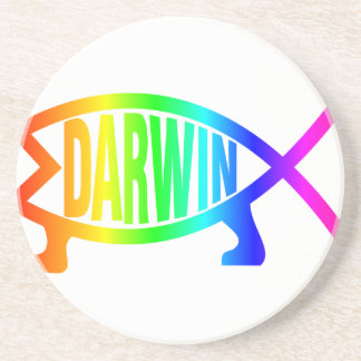 Rainbow Darwin Fish Coaster