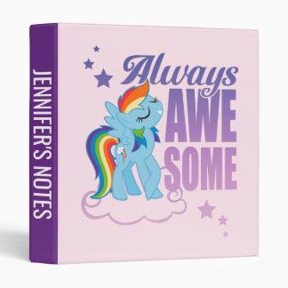 Rainbow Dash   Always Awesome 3 Ring Binder