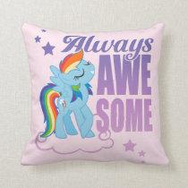 Rainbow Dash | Always Awesome Throw Pillow